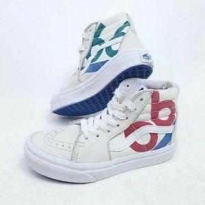 VANS Kids 12 SK8 Hi Yacht Club Skate Shoes Canvas